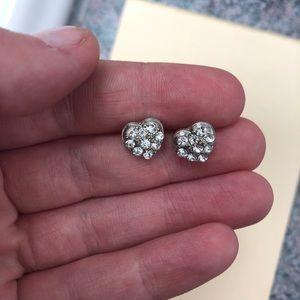 Mini Heart Earrings NWOT